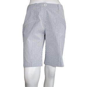 Nike Golf   Blue White Striped Dri-Fit Bermudas 8
